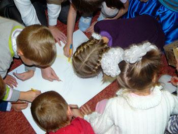 ИЗО в Детском клубе Тёма
