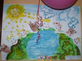 Коллективная поделка к Дню Защиты детей, ясли