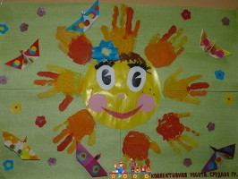 Коллективная поделка к Дню Защиты детей, средняя группа
