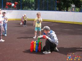 """Спортивные игры в детском клубе """"Тёма"""", приуроченные ко Дню Защиты детей"""