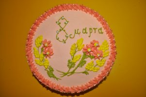 Праздничный торт. Испекла Оксана Владимировна, мамочка Ярослава Мелешко.